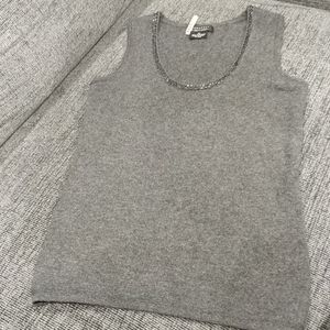 Sleeveless cashmere by Bloomingdale's